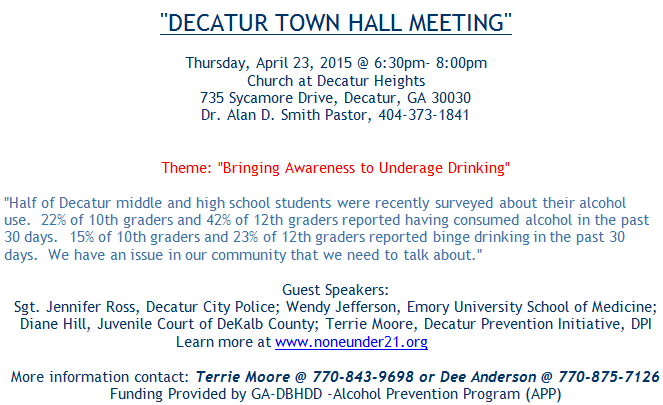 Decatur Town Hall Meetings